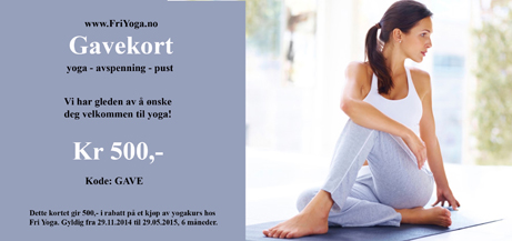 Yoga Gavekort Oslo